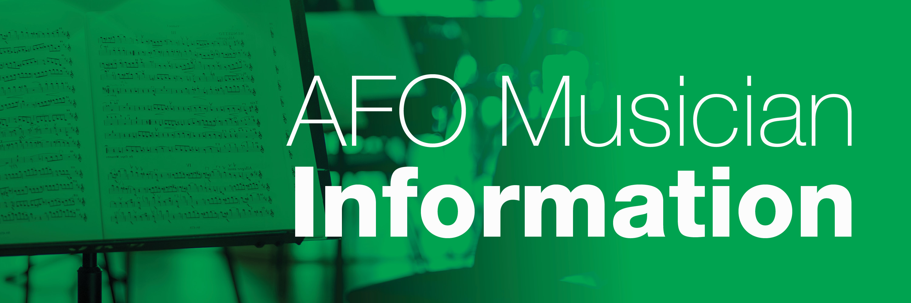 AFO Musician Information